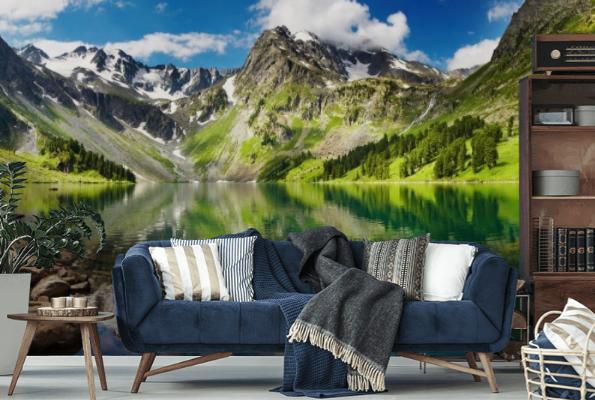 Fototapeta z wizerunkiem wspaniałego pejzażu wniesie górską świeżość do wnętrza