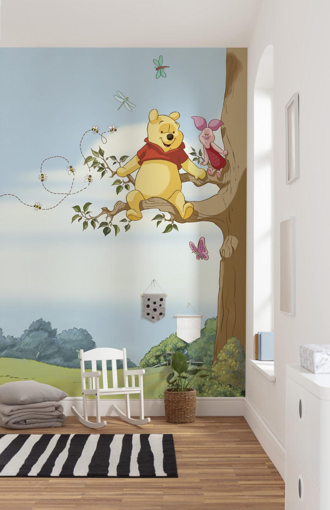 Fototapety z Kubusiem Puchatkiem - ulubiona bajka we wnętrzu pokoju dziecięcego