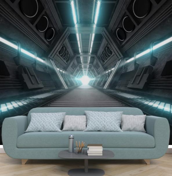 tapeta przedstawiająca wnętrze statku