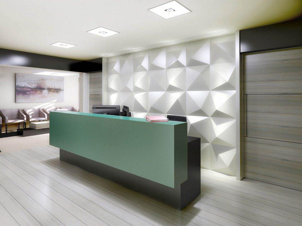 3D fototapety na ścianie stwarzają pozór trójwymiarowych dekoracji