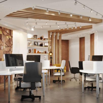 Fototapeta stanie się głównym akcentem biurowego wnętrza