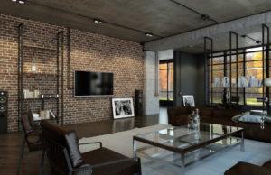 Modernizm i loft w jednym pomieszczeniu