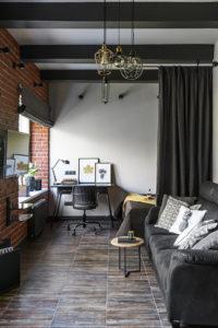 Współczesny loftowy gabinet