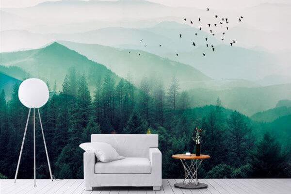 Jeśli oko pragnie zieleni, a roślinne motywy się znudziły, wybierz góry. Zadowoleni klienci polecają tę oto tapetę!
