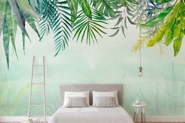Soczysta zieleń na tej tapecie - to zastrzyk pozytywnej energii z samego rana, jeśli udekorujemy nią sypialnię. Umieszczona w pokoju dziennym poprawia humor domowników przez cały dzień.