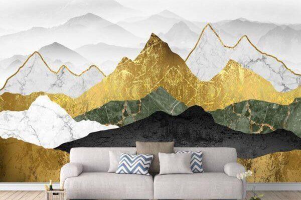 Nie obiecujemy złotych gór, no chyba że… drukujemy. Majestatyczne góry w odcieniach złota uczynią wyjątkowym każde wnętrze.