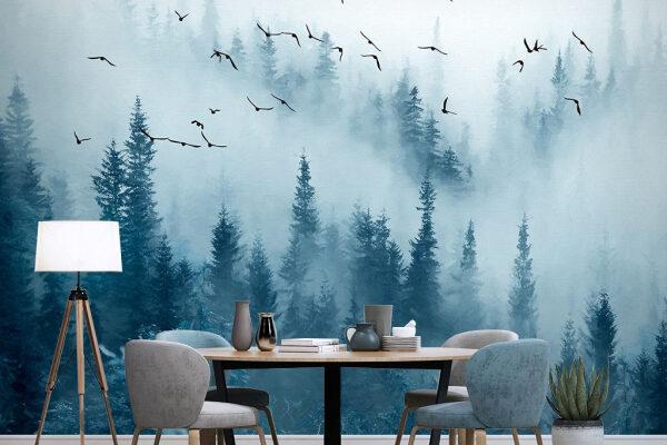 Numer 1 wśród najczęściej wybieranych motywów! Urzekająca natura i skandynawski minimalizm tej tapety zdecydowały o jej sukcesie.