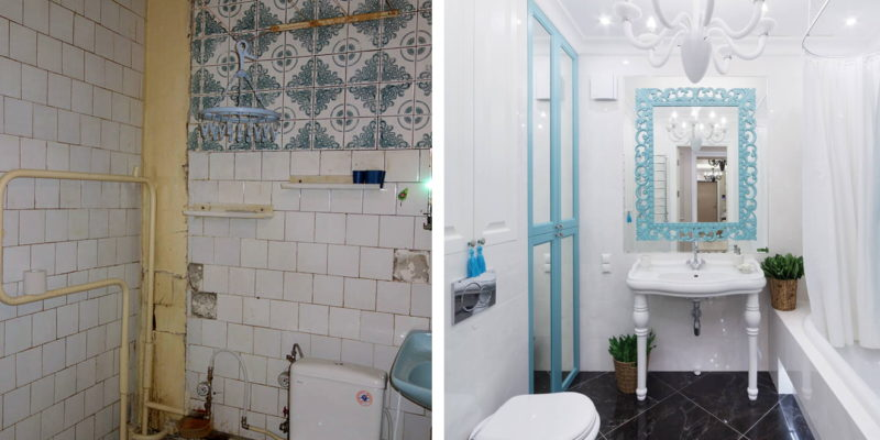 Elementy w kontrastowym kolorze oraz oryginalne dodatki są w stanie stworzyć niepowtarzalną łazienkę