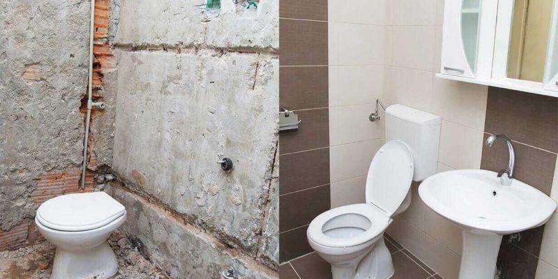 Od stanu surowego do pięknej łazienki jest dużo pracy i wysiłku