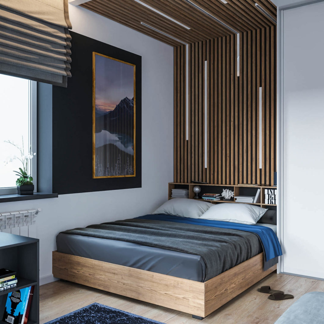 Oryginalny pomysł na wystrój sypialni można zrealizować z użyciem dostępnych na rynku materiałów