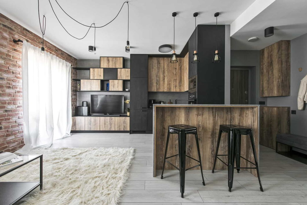 Tapeta, imitująca cegłę, uzupełni wystrój w stylu loft