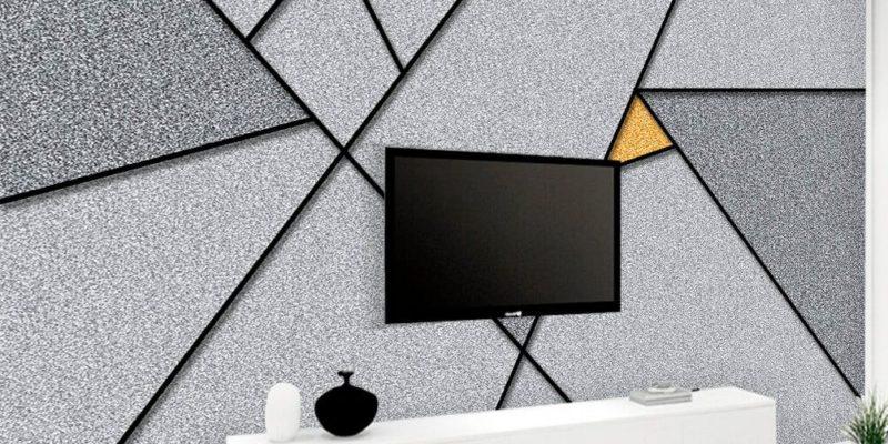 Żakardowa fototapeta może być nowoczesna i minimalistyczna