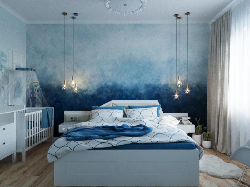 Spokojny błękit w delikatnym akwarelowym wykończeniu pomoże stworzyć relaksującą atmosferę