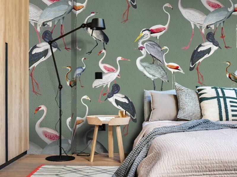 Animalistyczna tapeta w orientalnym stylu - to oryginalna ozdoba sypialni