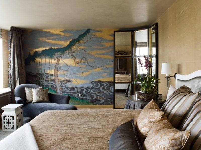 Tapeta w japońskim stylu pasuje nawet do bardzo europejskiego wnętrza