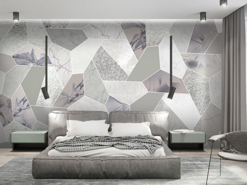 Doskonały pomysł na połączenie różnych faktur na jednej ścianie