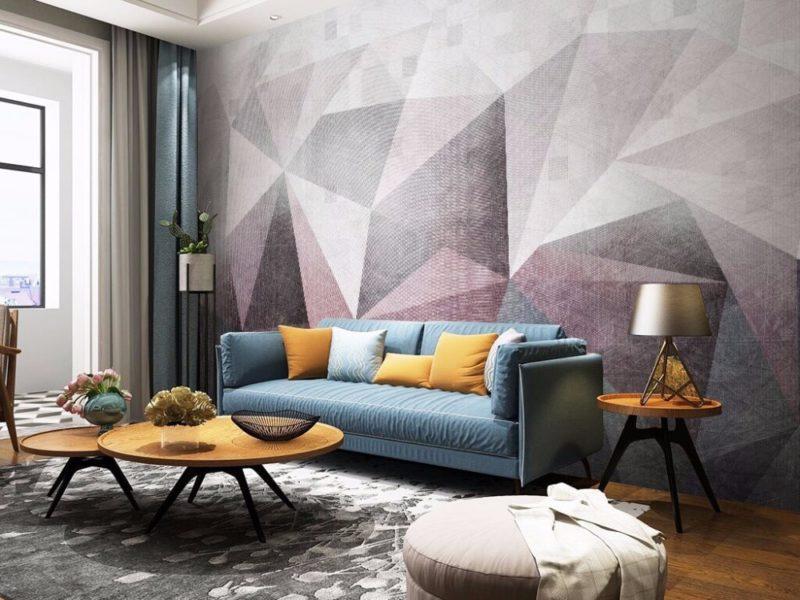 Salon w pastelowych odcieniach modnych kolorów zachęca do odpoczynku