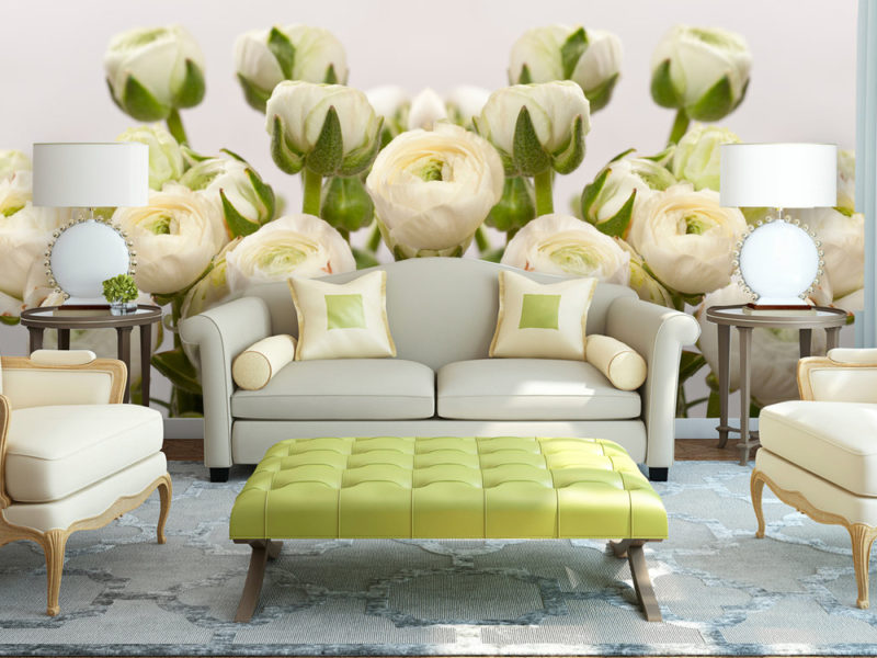 Do stworzenia lekkiego romantycznego wnętrza idealnie nadają się fototapety z kwiatowym motywem