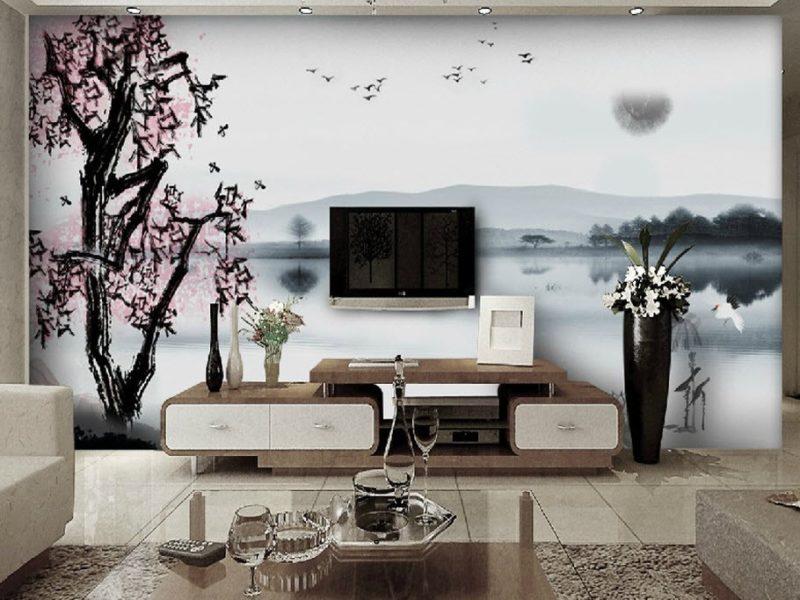 Minimalistyczny orientalny motyw - to ukojenie dla oczu i doskonałe rozwiązanie dla jasnego wnętrza