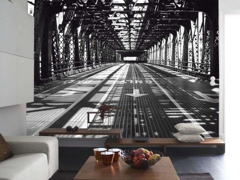 Fototapeta z 3D efektem optycznie powiększy pokój i stanie się stylowym uzupełnieniem minimalistycznego wnętrza