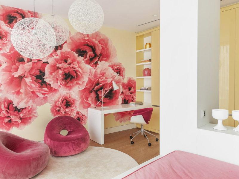 Romantyczne kwiaty znalazły swoje miejsce nie tylko w sypialniach czy salonach