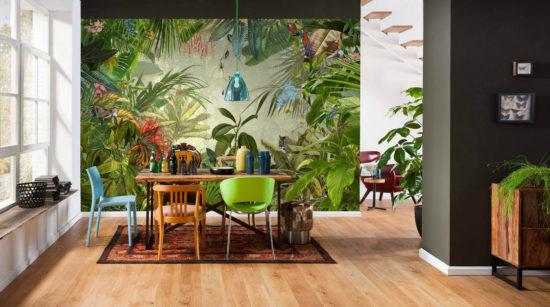Gorący trend 2021: Zielona tapeta z dużymi liśćmi. 20 inspirujących pomysłów dla Twojego wnętrza