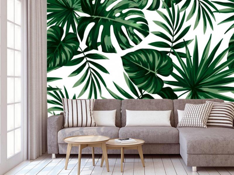 Klasyczne zielone liście odnajdą się w każdym wnętrzu, zwłaszcza jeśli wybierzemy spokojne meble i stonowane barwy.