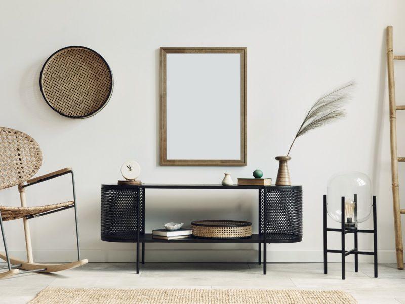 Modern,Scandinavian,Living,Room,Interior,With,Mock,Up,Poster,Frame,
