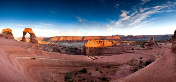 Delicate Arch panorama vz
