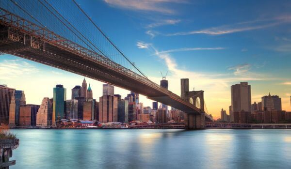 Pont de vers Brooklyn Manhattan, Nowy Jork.