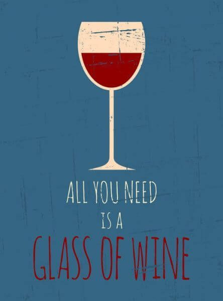 Retro Red Wine Poster