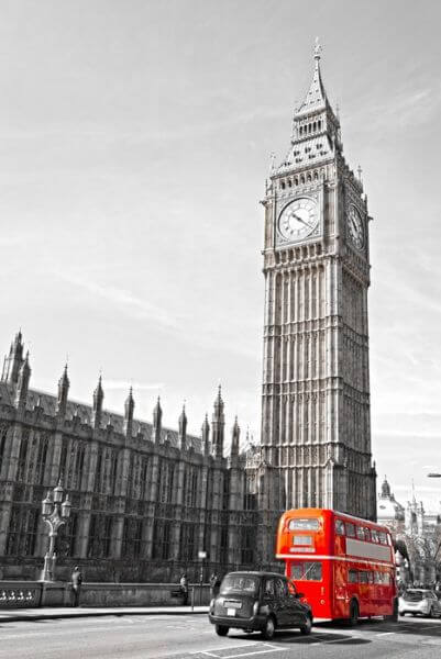 Big Ben,  House of Parliament i Westminster most