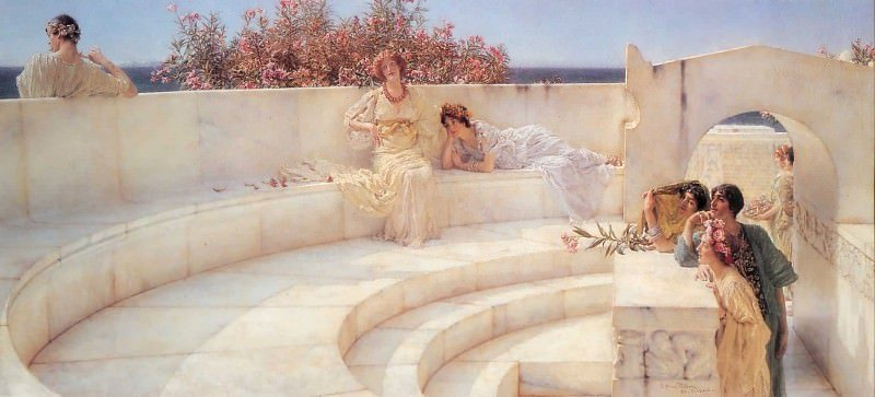 Obraz Lawrence Alma-Tadema, Under the cover of boring Ionian weather