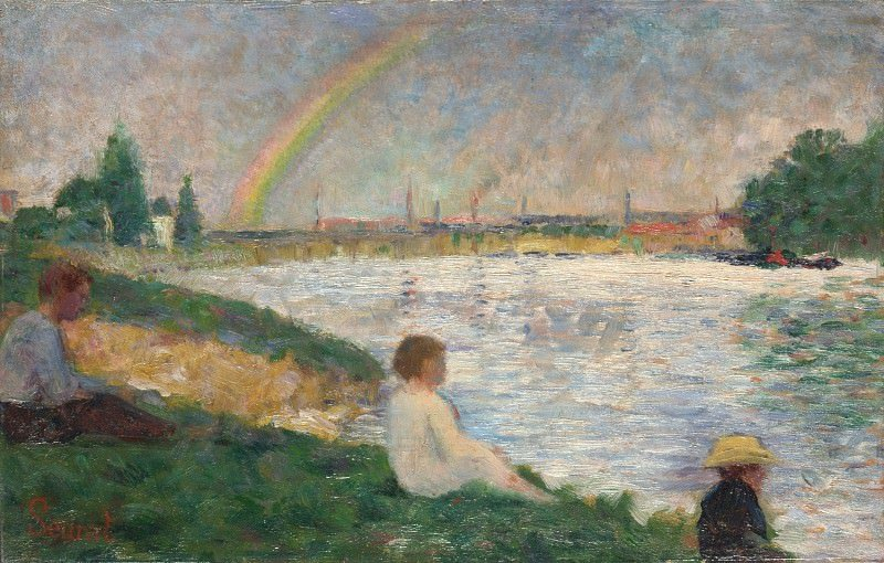 Obraz Georges Seurat, Study for Bathers in Asnieres