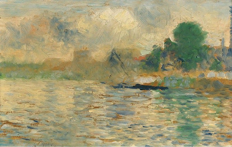 Obraz Georges Seurat, Barge on the seine