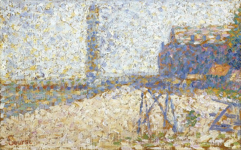 Obraz Georges Seurat, The Hospice and a Lighthouse of Honfleur