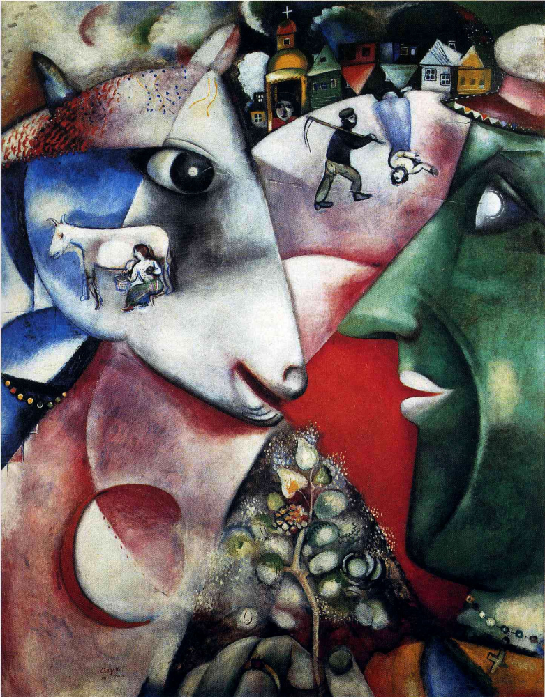 Obraz Marc Chagall, Me and the village