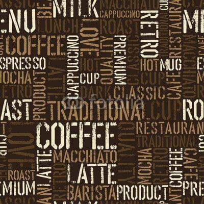 Fototapeta Seamless coffee experience pattern. Vector, EPS8.