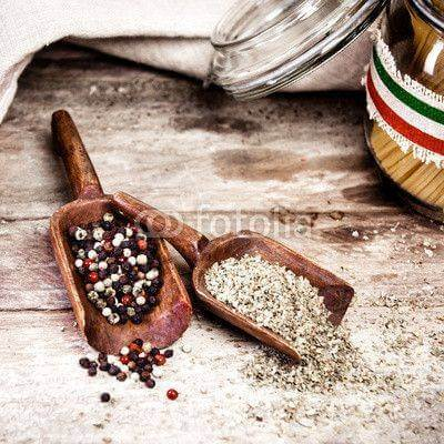 Fototapeta Fresh spices and condiments