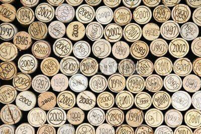 Fototapeta Background of wine corks